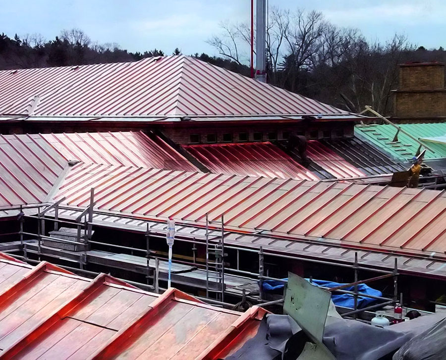 Cranbrook Institute Copper roofing replacement contractors michigan cass sheetmetal detroit mi