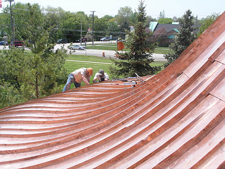 CASS Sheet Metal Copper Roofing Detroit MI