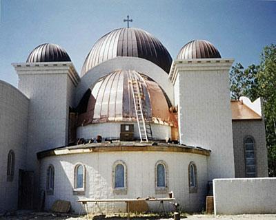 01-Copper-Roofing-Copper-Domes-Saint-George-Greek-Orthodox-Church CASS Sheetmetal Detroit MI