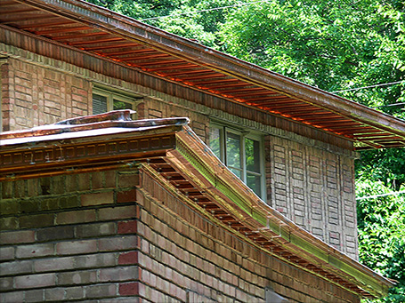 01 Residential Homes Metal Roofing Copper Soffits Gutters CASS Sheetmetal Detroit MI