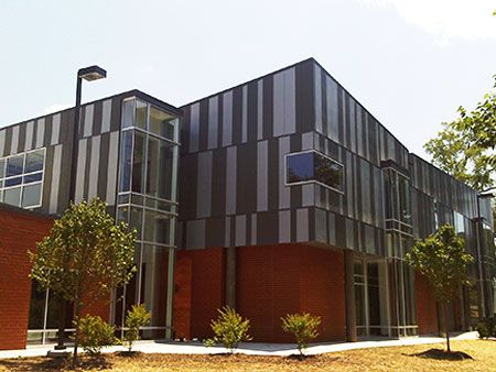 SECCA-Zinc Siding Office Building installation by CASS Sheetmetal Detroit MI