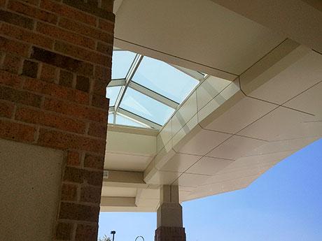 02 Hospital Building Composite Wall Panels photo by CASS Sheetmetal Detroit MI