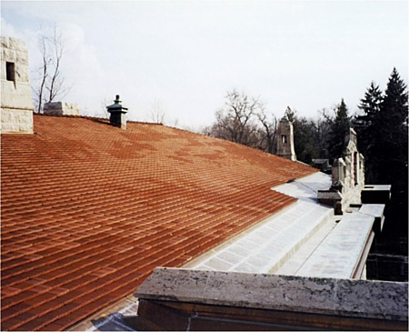 02 ford estate-slate tile roof replacement by CASS Sheetmetal Detroit MI