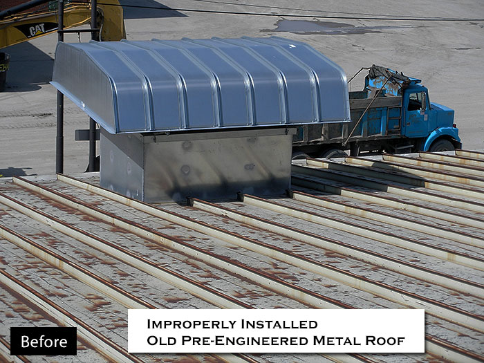 Commercial Roof Ventilation : Photo gallery commercial metal fabrication roofing