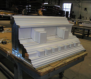 Custom metal cornice fabrication CASS Sheetmetal Detroit MI