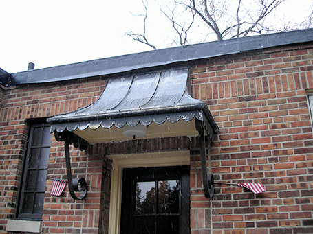 03-copper canopy fabrication by cass sheetmetal detroit mi