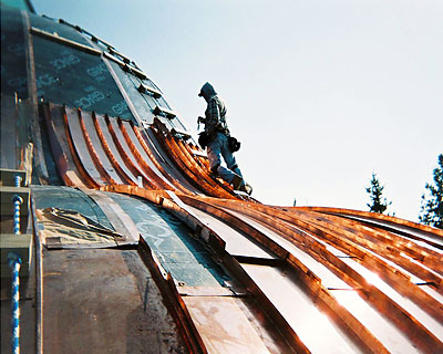 04-St-Paul-Tarsus-Church-Clinton Twp MI Curved-Copper-Roofing-Replacement by CASS Sheetmetal