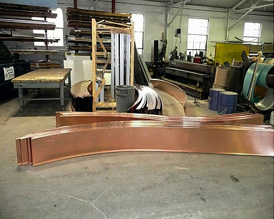 07-St-Paul-Tarsus-Church-Curved-Copper-Roofing Fabrication by CASS Sheetmetal Detroit MI