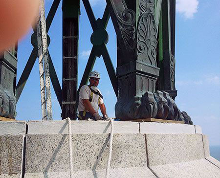 Monument Restoration Perry Memorial Cass Sheet Metal Mi