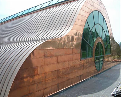 10-St-Paul-Tarsus-Church-Curved-Copper-Conopy Roofing-Replacement by CASS Sheetmetal Detroit MI