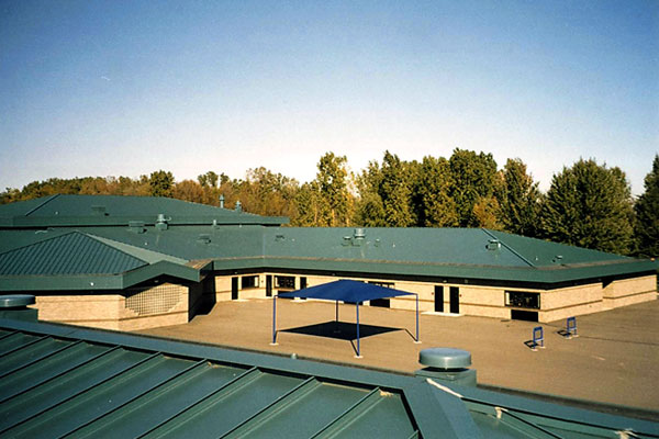 ... Elementary School New Metal Roofing Installation By CASS Sheetmetal  Detroit MI ...
