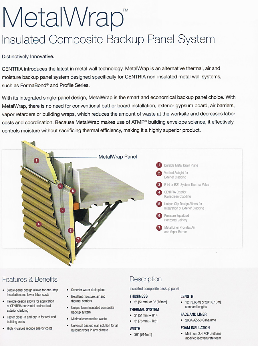 CENTRIA-wall-panel-3D-diagram CASS Sheetmetal Detroit MI