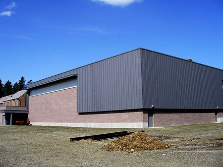 Zinc Siding Panels for Warehouse building installation by CASS Sheetmetal Detroit MI