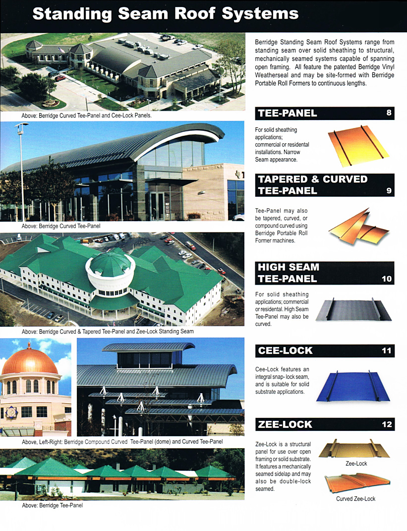 Berridge Metal Roofing Systems by CASS Sheetmetal Detroit MI