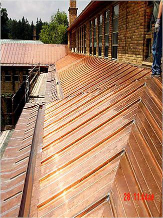 cranbrook-institute-library-copper-roof-replacement by CASS Sheetmetal Detroit MI