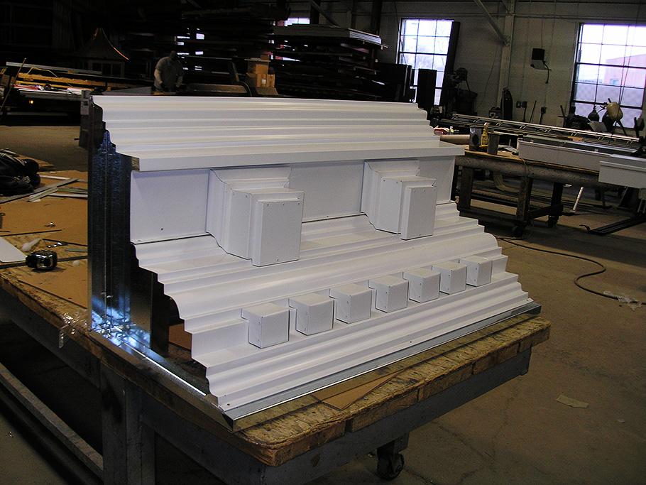 custom fabricated cornice-work-CASS-Sheetmetal Detroit MI