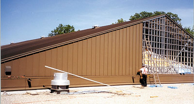 fairlane_manor_athletic_facil-metal roofing system installation by CASS Sheetmetal Detroit MI
