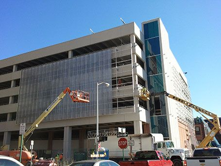 greektown-valet-parking-structure-installationCASS Sheetmetal Detroit MI