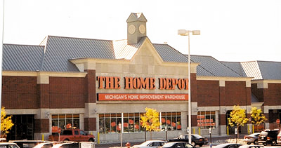 home depot store new metal roofing system installation by CASS Sheetmetal Detroit MI