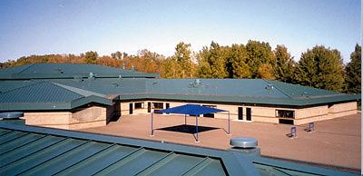 joseph-m-carkenord-elementary-school-metal roofing system installation by CASS Sheetmetal Detroit MI