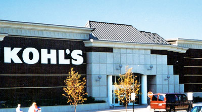 kohls-department store new metal roofing system installation by CASS Sheetmetal Detroit MI