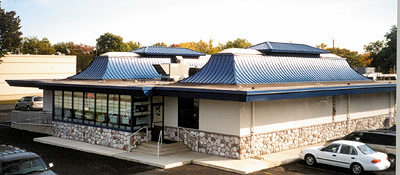 shillas-restaurant-metal roofing system installation by CASS Sheetmetal Detroit MI