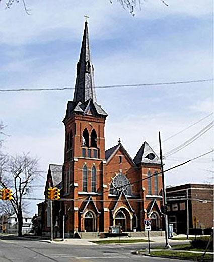 trinity-lutherran-church-restoration-monroe CASS Sheetmetal Detroit MI