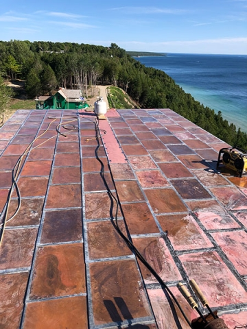 Copper-Roofing-Repair-Mackinac-Island-Home-CASS-Sheetmetal-Detroit