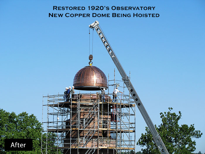 Cranbrook Observatory Tower Copper Dome Restoration