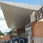 11 High School Sports Bleachers Metal Roofing CASS Sheetmetal Specialists Detroit MI