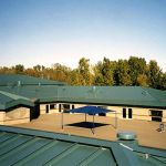 Elementary School new Metal Roofing installation by CASS Sheetmetal Detroit MI