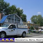 16 Residential Homes Blue Metal Roofing Photos CASS Sheetmetal Detroit MI