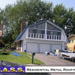 17 Residential Homes Blue Metal Roofing Photos CASS Sheetmetal Detroit MI