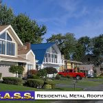 18 Residential Homes Blue Metal Roofing Photos CASS Sheetmetal Detroit MI