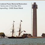 Perry-Monument-Tower-Restoration-Preservation Photos by CASS Sheetmetal Detroit MI