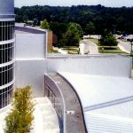 stainless-steel-siding-panels for hospital building installation by CASS Sheetmetal Detroit MI